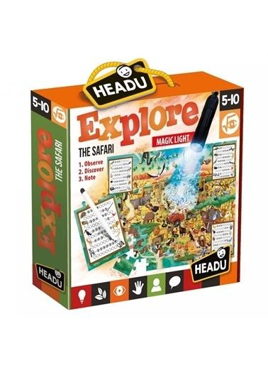Headu Headu It21420 Explore The Safari Öğrenelim Çocuk Oyun Yapboz Renkli